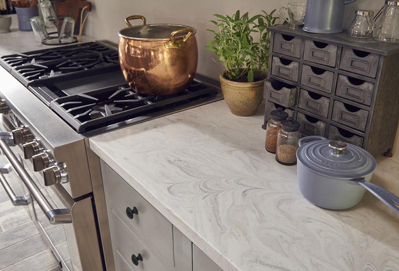 Столешница для кухни из искусственного камня Corian Limestone Prima — Modern Acrylic Stone