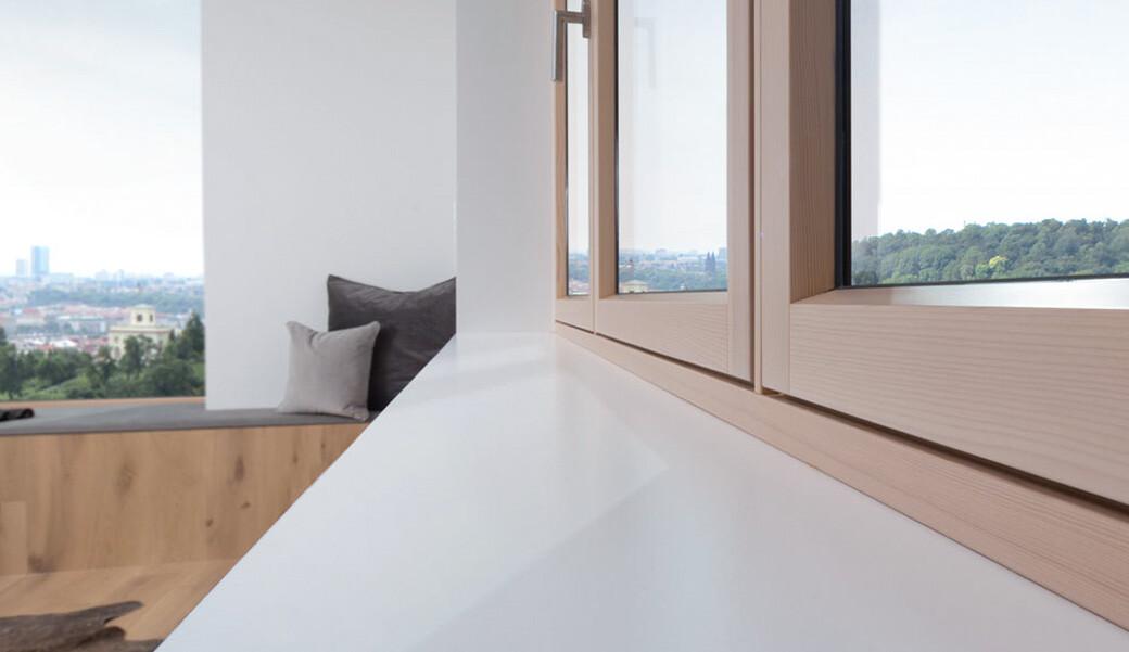 Белый подоконник из искусственного камня — Modern Acrylic Stone
