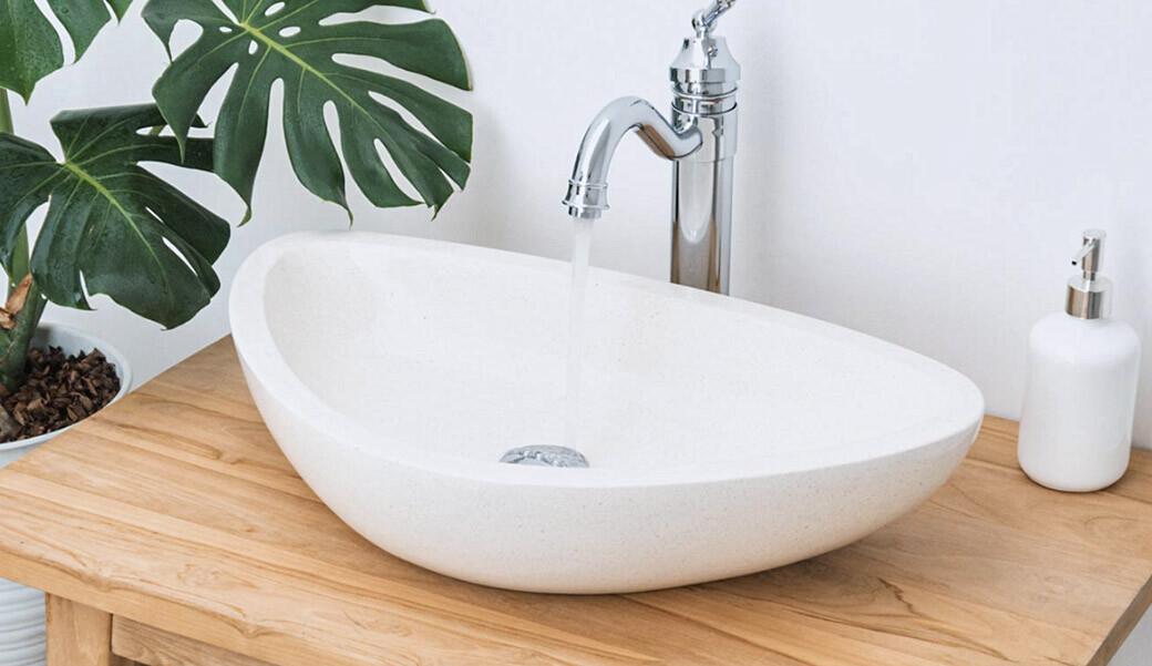 Овальная раковина из искусственного камня для ванной комнаты — Modern Acrylic Stone