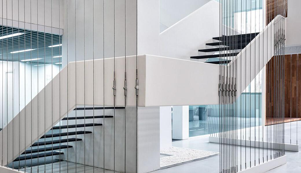Современная лестница из искусственного камня — Modern Acrylic Stone