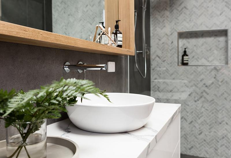 Мраморная столешница из кварцевого камня для ванной — Modern Acrylic Stone